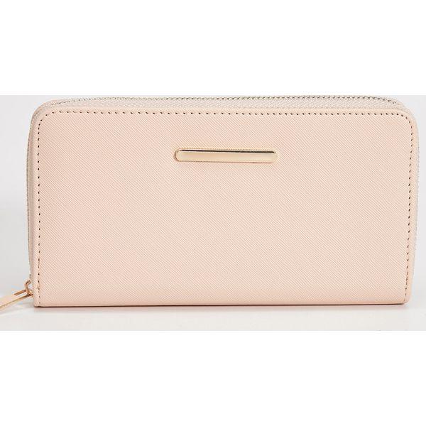 ec41ffbf42eef Duży portfel - Kremowy - Białe portfele damskie marki Sinsay. Za ...