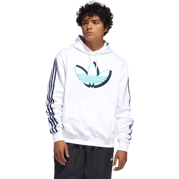 adidas Originals Shadow Trefoil Bluza Biały