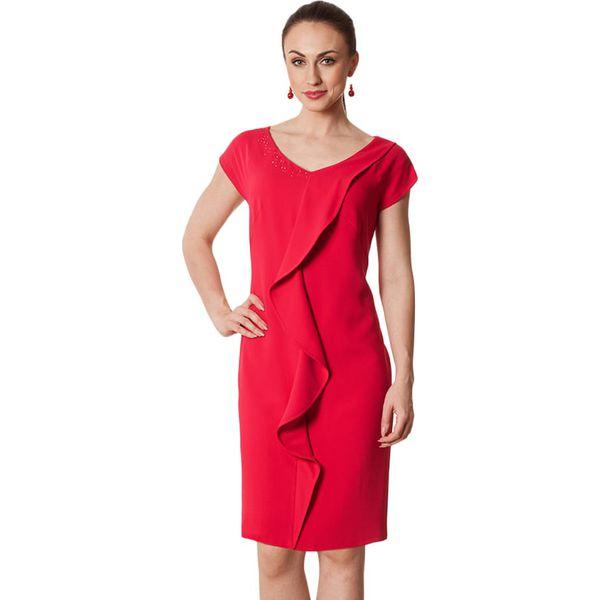 ed2ffdd0cf Sukienka w kolorze fuksji - Czerwone sukienki damskie marki Semper ...