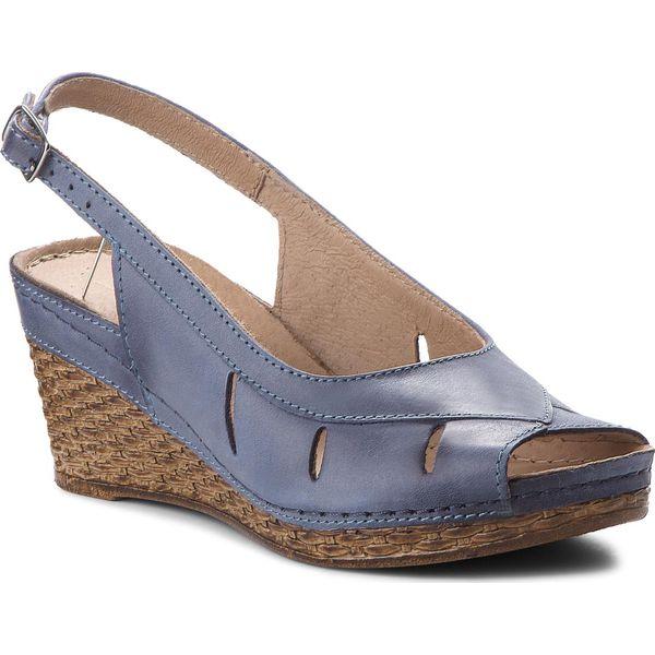695be6dedb763 Sandały POLLONUS - 5-0778-002 Niebieski Angel - Niebieskie sandały ...