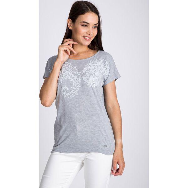 3b78b9729360 Szara bluzka z białym printem QUIOSQUE - Bluzki damskie marki ...