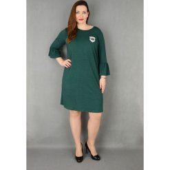 ae69290caf Elegancka sukienka rękaw falbanka suże rozmiary dla puszystych. Sukienki  damskie marki Moda Size Plus Iwanek