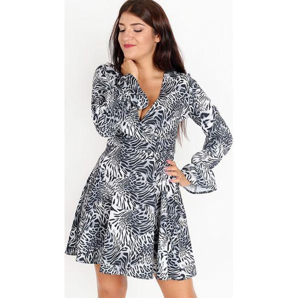 5daf580dff Sukienka w kolorze szaro-czarnym ze wzorem - Czarne sukienki damskie ...