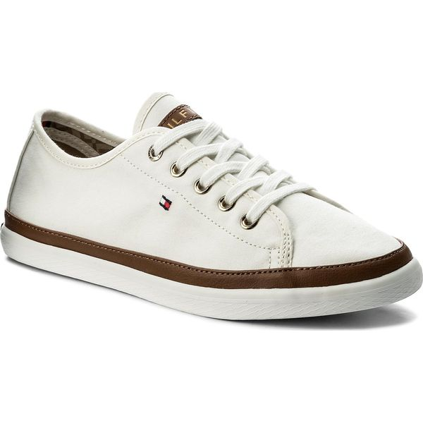 9b778f4e87d Tenisówki TOMMY HILFIGER - Iconic Kesha Sneaker FW0FW02823 Whisper White 121