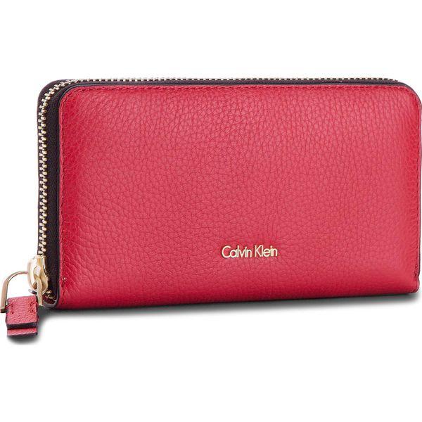 267791281b7e7 Duży Portfel Damski CALVIN KLEIN BLACK LABEL - Cosmopolitan Large Z  K60K604018 618 - Czerwone portfele damskie marki Calvin Klein Black Label.