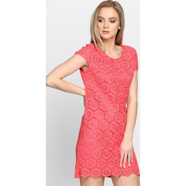 5916549ce66e Koralowa Sukienka Dark Paradise - Pomarańczowe sukienki damskie ...