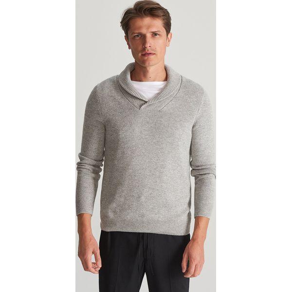 Reserved Sweter z żakardowym wzorem Szary