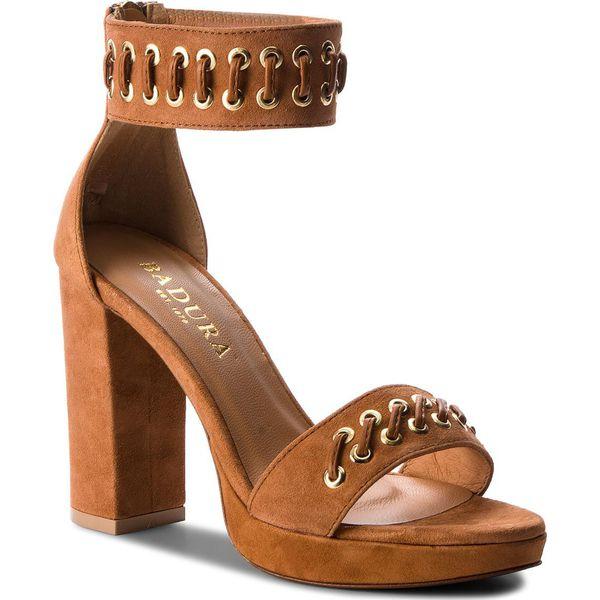 024b7ce44296e Sandały BADURA - 4680-69 Brąz 1473 - Brązowe sandały damskie marki ...