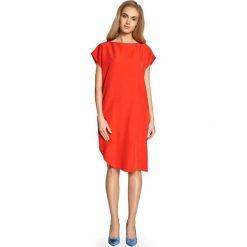 07a4a78222 Czerwona Sukienka o Prostym Kroju z Szerokim Rękawkiem. Sukienki damskie  marki Molly.pl.