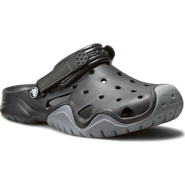 nowy przyjeżdża eleganckie buty obuwie Klapki CROCS - Swiftwater Clog M 202251 Black/Charcoal