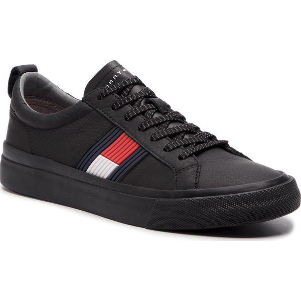 a95318ba01fa4 Tenisówki TOMMY HILFIGER - Flag Detail Leather Sneaker FM0FM01712 ...
