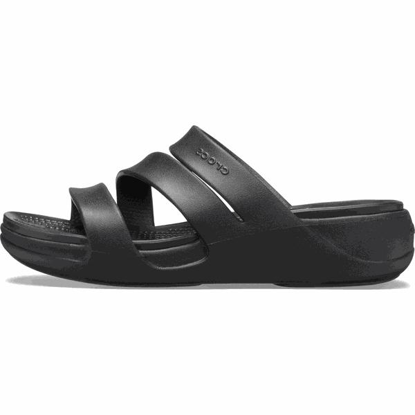 Crocs klapki damskie Monterey Wedge W (206304) 3738 czarne