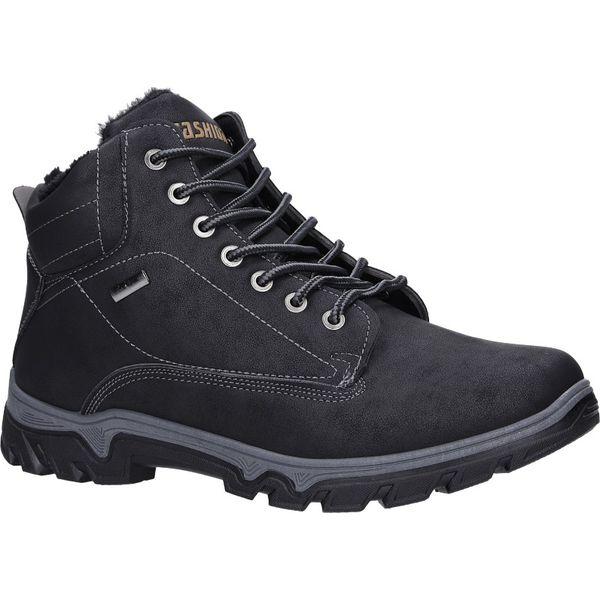 czarne buty trekkingowe sznurowane casu a260 1