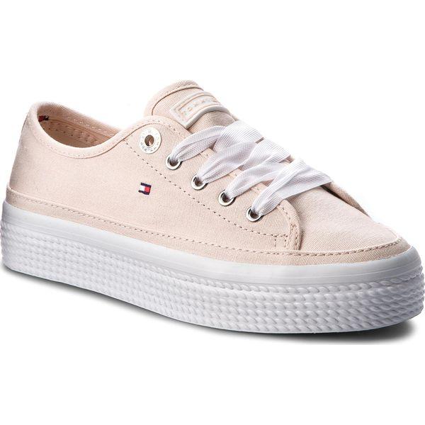 5ade0185b14a8 Tenisówki TOMMY HILFIGER - Pastel Flatform Sneaker FW0FW02994 Silver ...