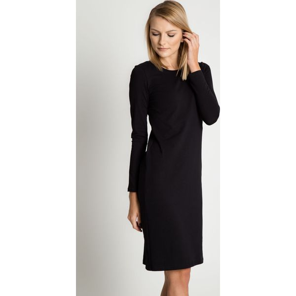 567fe4b5aa Dopasowana sukienka z długimi rękawami BIALCON - Czarne sukienki ...