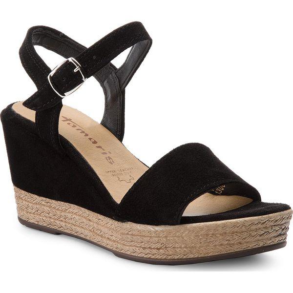 sandały damskie tamaris czarne