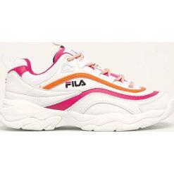 Białe obuwie damskie Fila, na sznurówki Kolekcja zima 2020