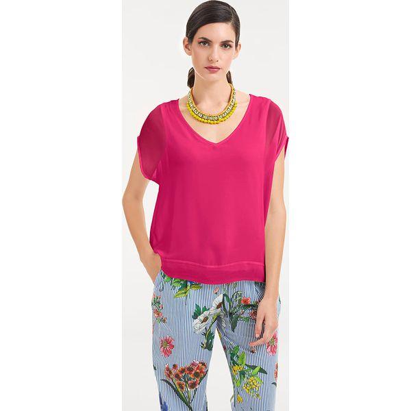 e9f91fbbafae56 Koszulka w kolorze różowym - Czerwone bluzki damskie marki Heine, z ...