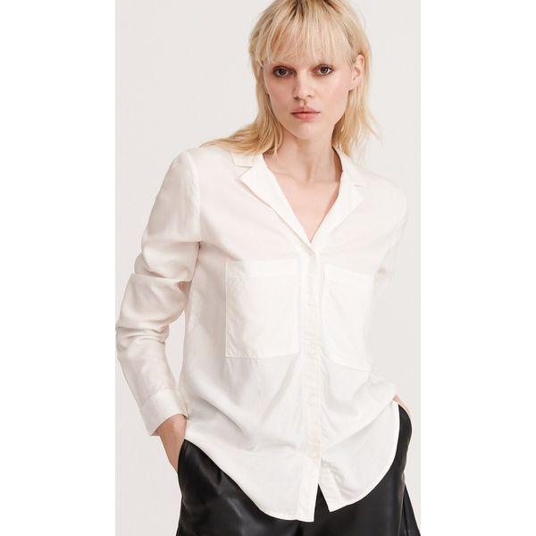 Gładka koszula z EcoVero™ Biały Białe koszule damskie  hIZrn