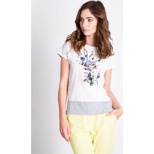 213b494992fc Szara bluzka z printem na przodzie QUIOSQUE - Bluzki damskie marki ...