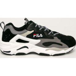 Wyprzedaż czarne buty sportowe męskie Fila, na sznurówki