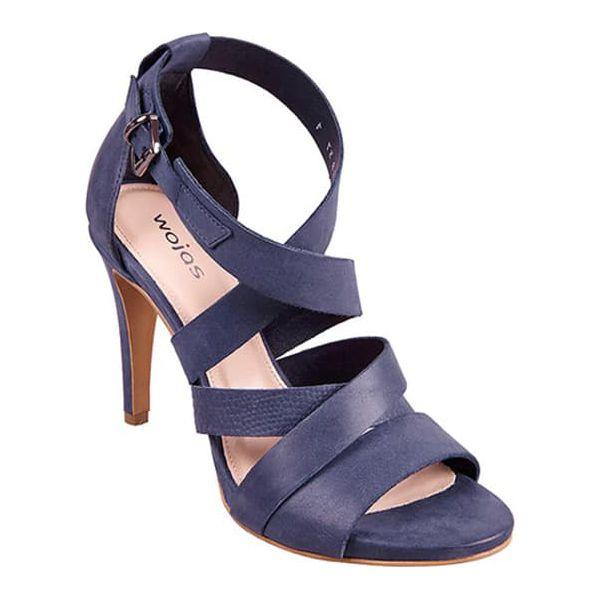 a4de19c05d367 Skórzane sandały w kolorze granatowym - Niebieskie sandały damskie ...