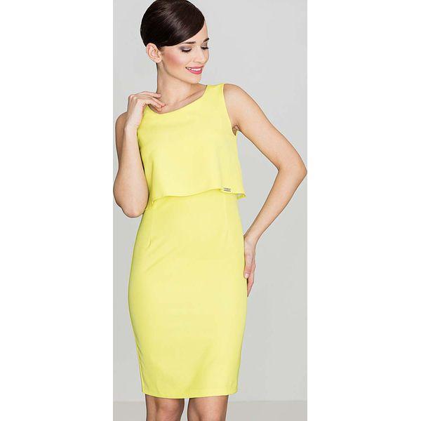 c57544d60b Elegancka Żółta Sukienka Na Szerokich Ramiączkach - Sukienki damskie ...