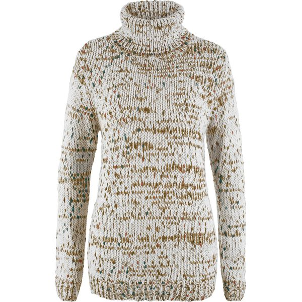 1ed499ce6dbc73 Sweter z golfem bonprix biel wełny - Białe swetry nierozpinane ...