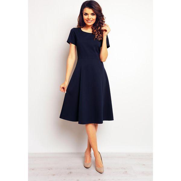 e04a7923e8 Granatowa Elegancka Rozkloszowana Sukienka - Niebieskie sukienki ...