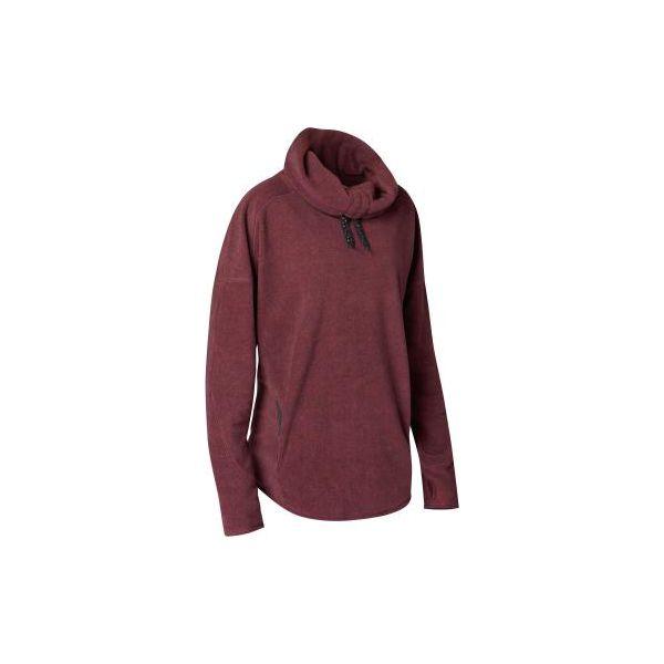 89eaa06ef869f4 Bluza do relaksacji do jogi damska - Czerwone bluzy damskie DOMYOS, xs, bez  wzorów, z materiału, bez ramiączek, bez kaptura. W wyprzedaży za 54.99 zł.