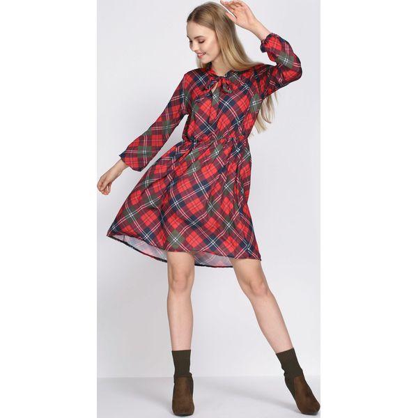 168e43b03a Bordowa Sukienka Don t Bring Me Down - Czerwone sukienki damskie ...