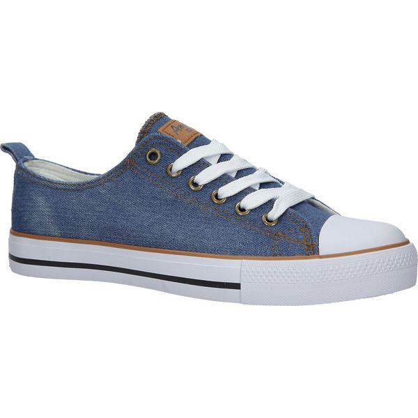 niebieskie trampki jeansowe sznurowane american lh 18 dsln 34