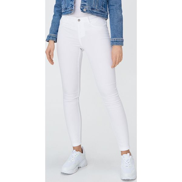 Jeansowe jegginsy skinny Biały