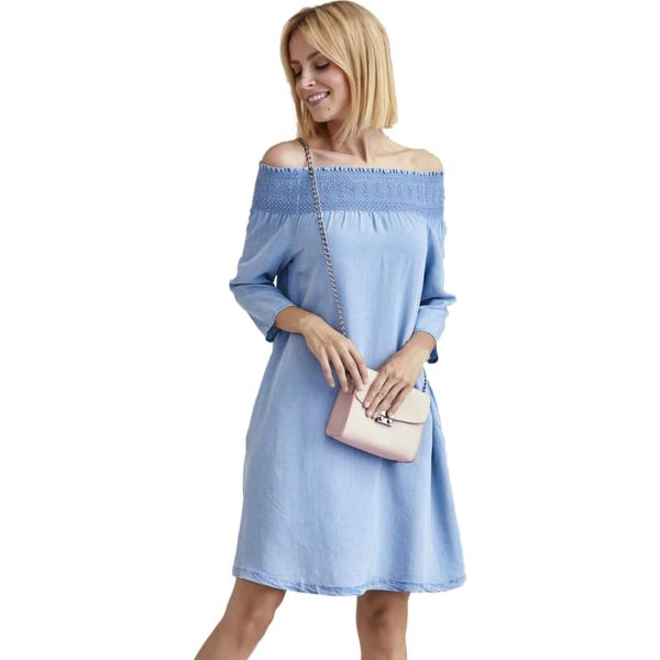 9b5819b8 Sukienka w kolorze błękitnym
