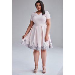 896d802d06 Sukienki z koronką pudrowy róż - Sukienki damskie - Kolekcja wiosna ...