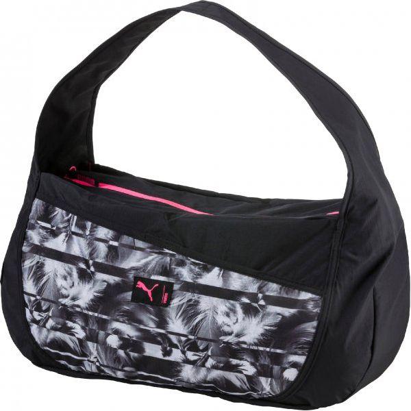 d39bb2bc56d91 Puma Torba Studio Barrel Bag Black White - Torby podróżne damskie ...