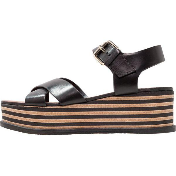f5fda8e38fe9 Minelli Sandały na platformie noir - Czarne sandały damskie marki ...