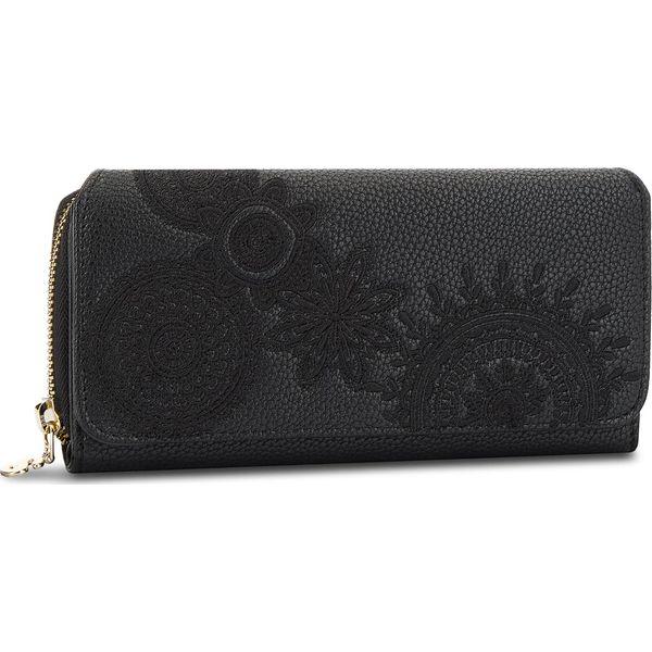 7c0eabeba43ff Duży Portfel Damski DESIGUAL - 18WAYP41 2000 - Czarne portfele ...