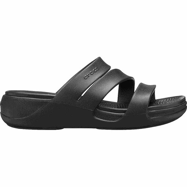Crocs Klapki damskie Crocs Mont erey Wedge W Black 206304–001 (rozmiar 36 37)