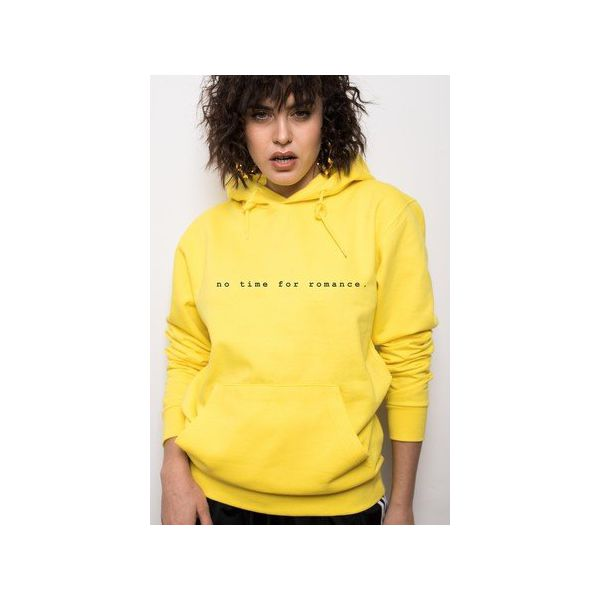 No Time For Romance Yellow Hoodie