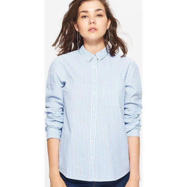 27a20c90bb2c Klasyczna koszula - Niebieski - Koszule damskie marki Cropp. Za ...