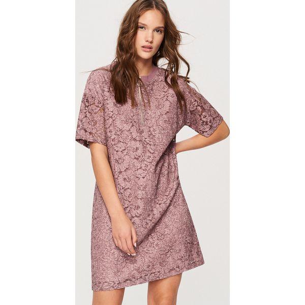 77ff5c5393 Koronkowa sukienka - Różowy - Czerwone sukienki damskie marki ...