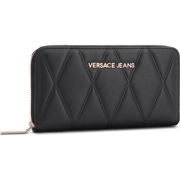 26a8745f6d41e Duży Portfel Damski VERSACE JEANS - E3VSBPL1 70712 899 - Czarne portfele  damskie marki Versace Jeans