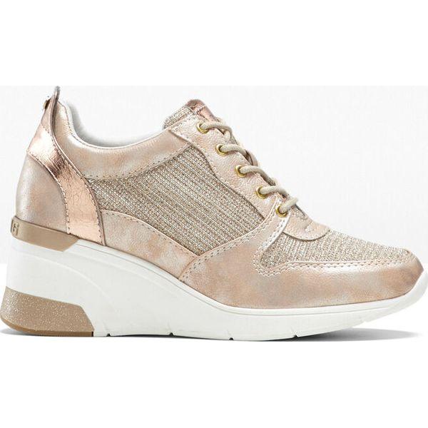 Sneakersy beżowy bonprix Buty sportowe damskie beżowe