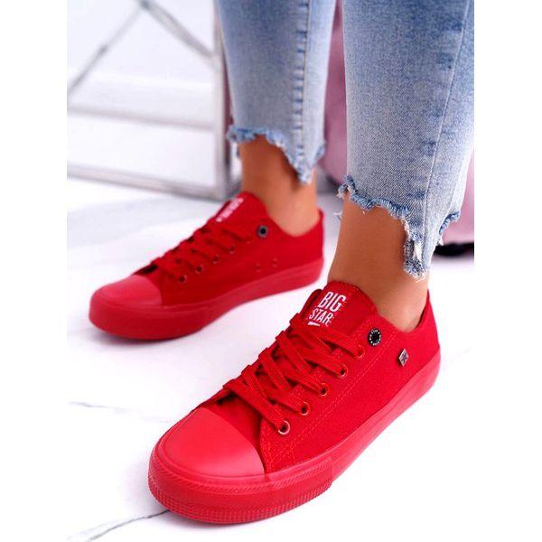 Czerwone damskie trampki Big Star AA274007