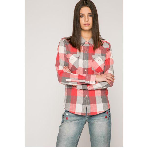 d4fd002da7090f Levi's - Koszula - Brązowe koszule damskie Levi's®, l, w kratkę, z ...