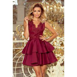 807b5f4d4 Efektowna sukienka z koronką sf-207. Czerwone sukienki damskie SaF, xs, z