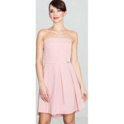 2f82bec1c5 Elegancka Różowa Gorsetowa Sukienka z Dłuższym Tyłem. Sukienki damskie marki  Molly.pl. Za