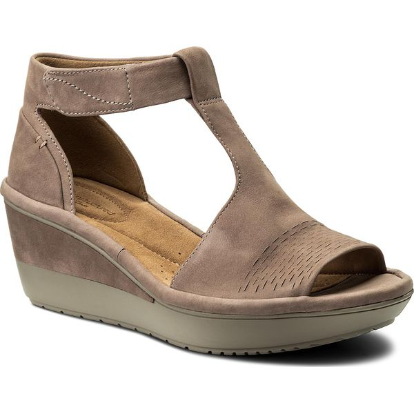 68ad86dc5 Sandały CLARKS - Wynnmere Avah 261339854 Grey - Brązowe sandały ...