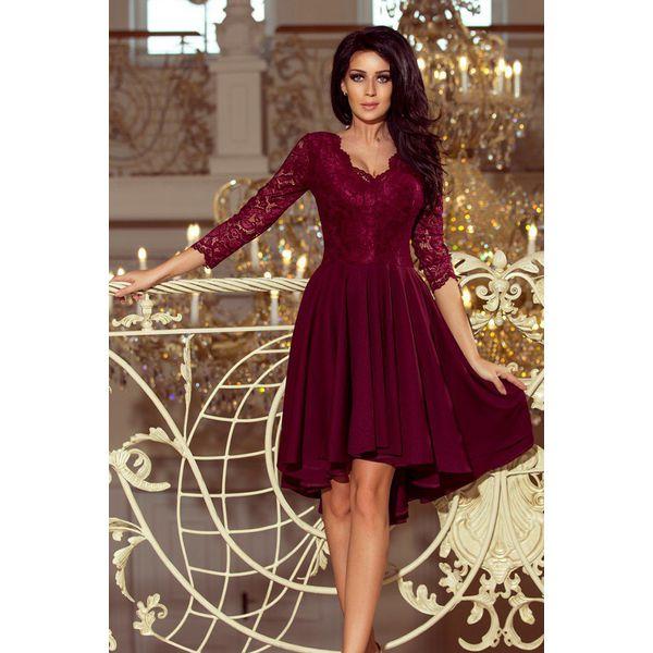 01efc47037 Nicolle Sukienka Z Dłuższym Tyłem Z Koronkowym Dekoltem Bord ...